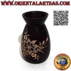 Flower vase in mahogany...