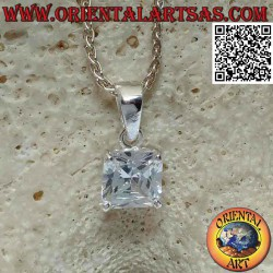 Silver pendant with light...
