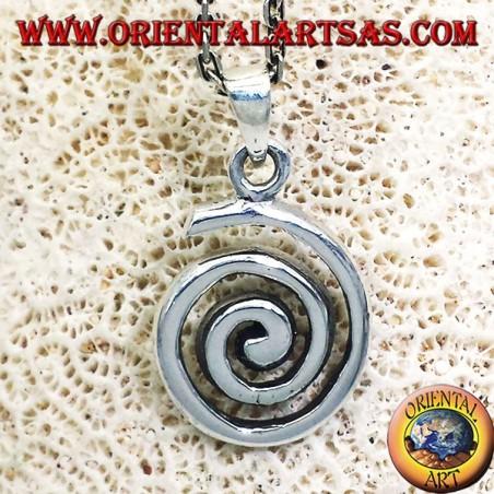 Ciondolo (Spirale Evolvente o Spirale Di Archimede )  in argento