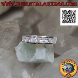 Smooth band silver ring...
