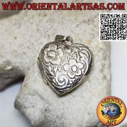 Heart-shaped silver photo...