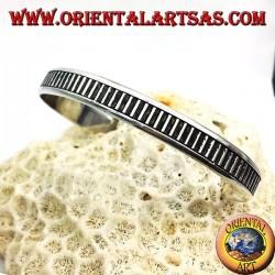 Rigid bracelet handmade silver