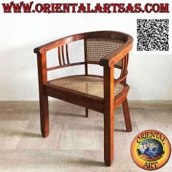 Round armchair in teak wood...