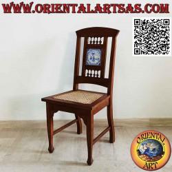 Chaise de style colonial...