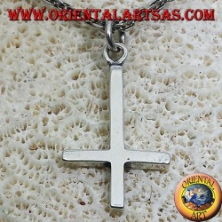 pendant cross of St. Peter, or anti-Christian cross silver