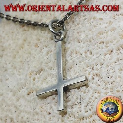 pendant cross of St. Peter, or anti-Christian cross silver