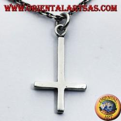 Anhänger Kreuz von St. Peter, oder anti-christliche Kreuz Silber