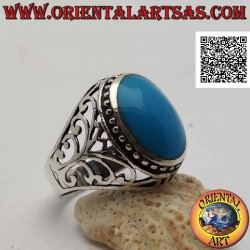 خاتم من الفضة مع كابوشون...