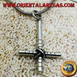 pendant CROSS REVERSE THE ANTICHRIST silver