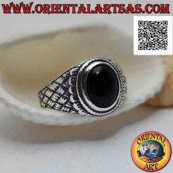 Anello in argento con onice...