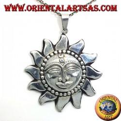 ciondolo in argento sole Nepalese grande