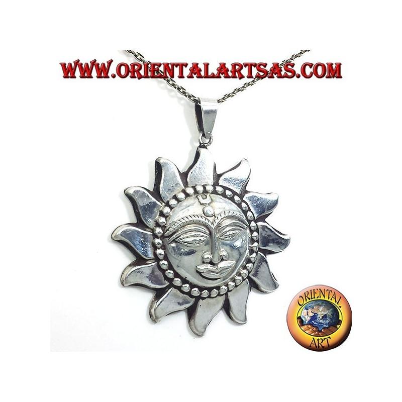 pendant sun largest Nepali silver
