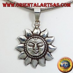 Silver Pendant Sun Nepalese (small)