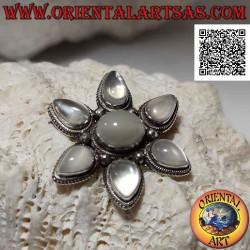 Silver brooch pendant,...