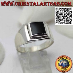 Smooth silver ring with...