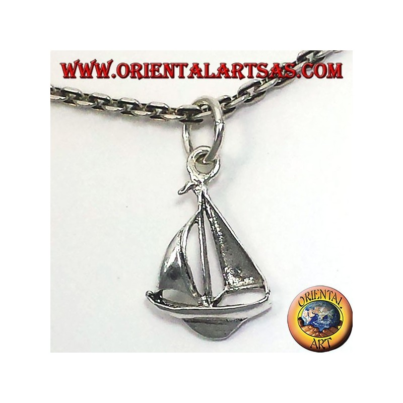 Segelboot -Anhänger aus Silber