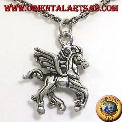 Серебряный кулон мерная крылатый конь