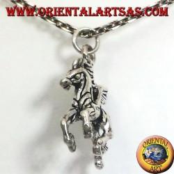 ciondolo in argento cavallo alato tridimensionale
