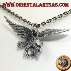 pendentif en argent, aigle en trois dimensions