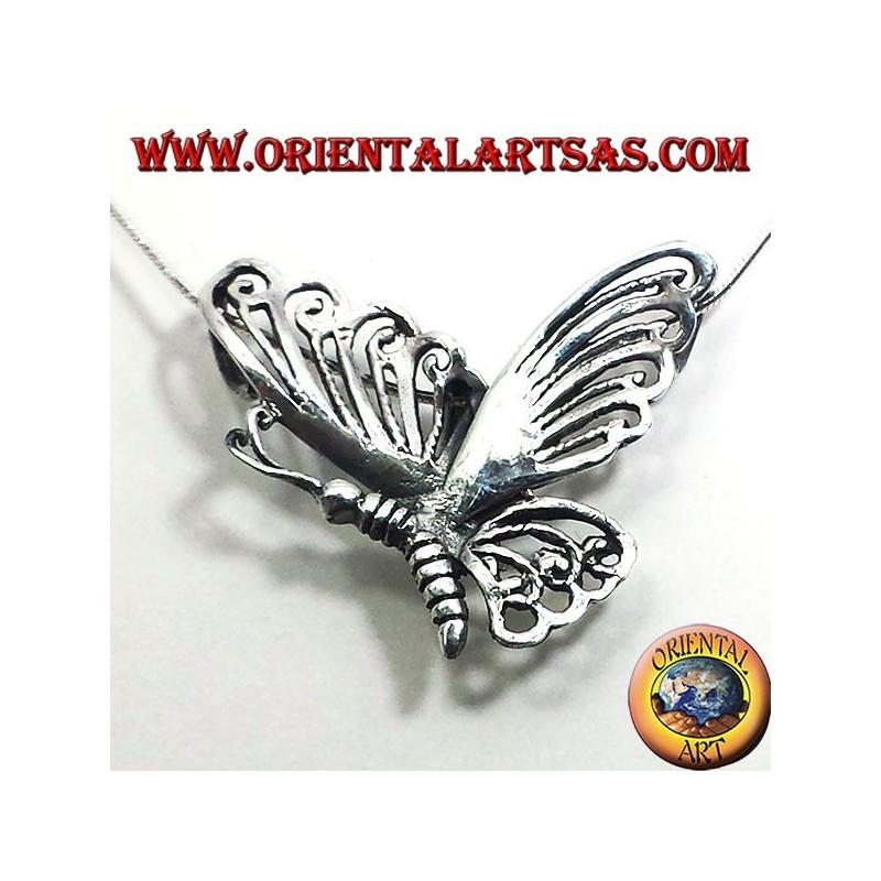 Butterfly silver pendant 925