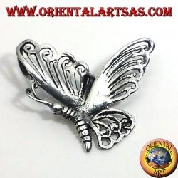 Mariposa colgante de plata 925