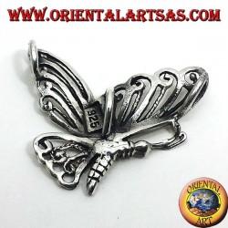 Papillon pendentif en argent 925