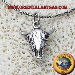 Ciondolo in argento teschio di Bisonte