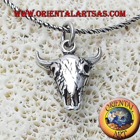 silver pendant Bison Skull