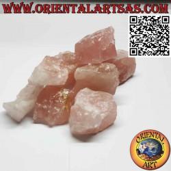 Quarzo Rosa grezzo (50 g→70 g)
