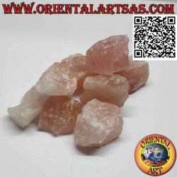 Quarzo Rosa grezzo (70 g→90 g)