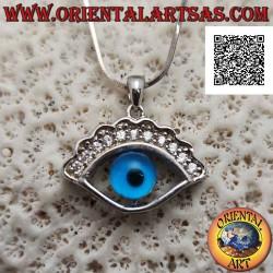 Silver pendant, Allah's eye...
