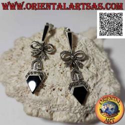 Silver earrings studded...