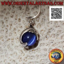 Silver dolphin pendant that...