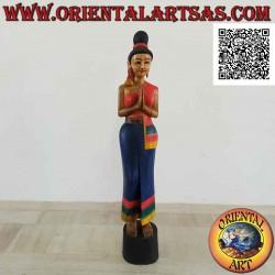 Sculpture of a Thai woman...