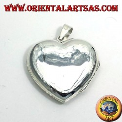pendentif en argent, coeur ciselé Cadres