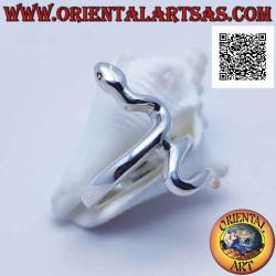 Серебряное кольцо в форме...