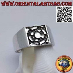 Silver ring with bas-relief...