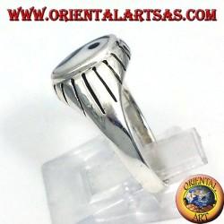Silber Yin Yang Tao Ring geschnitzten Balken