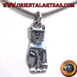 cat pendant silver