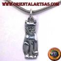gatto ciondolo in argento