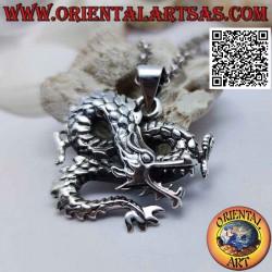 Colgante de plata, dragón...