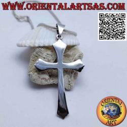 Silver pendant five-lobed...