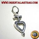 silver pendant cross my heart