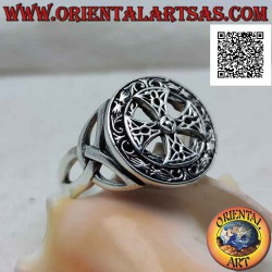 Silver ring with Celtic...