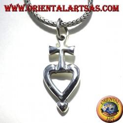silver pendant cross my heart