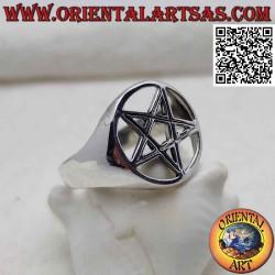 Серебряное кольцо с...