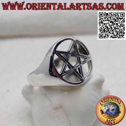 Silver ring with pentacle...