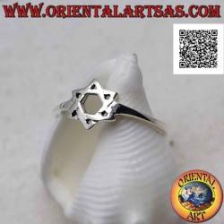 Silver ring with star of...
