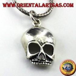 cráneo colgante en plata