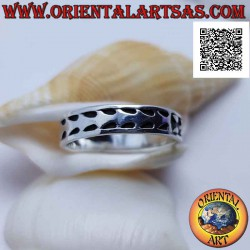 Silver ring with a positive...